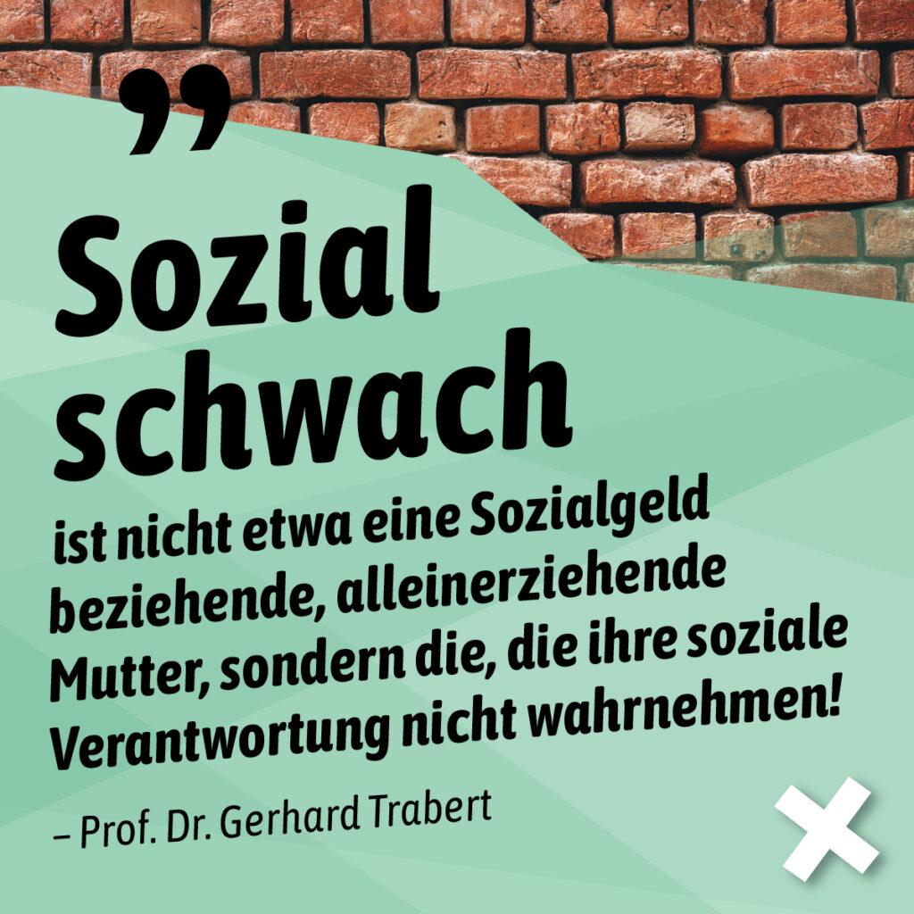 Stellungnahme von Prof. Dr. Trabert zum Umgang mit Sprache.