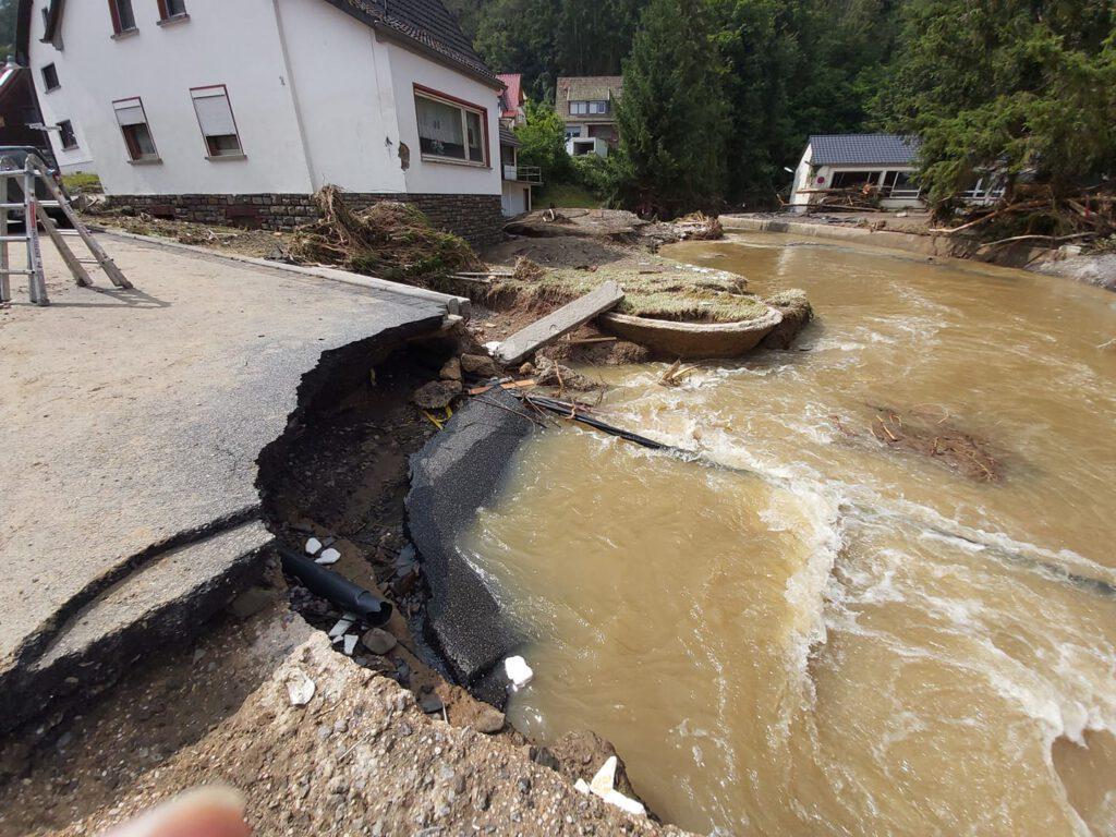 Flut - Bild der Zerstörung