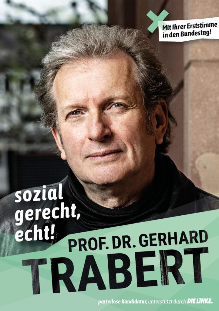 Flyer Prof. Dr. Trabert - sozial gerecht, echt!