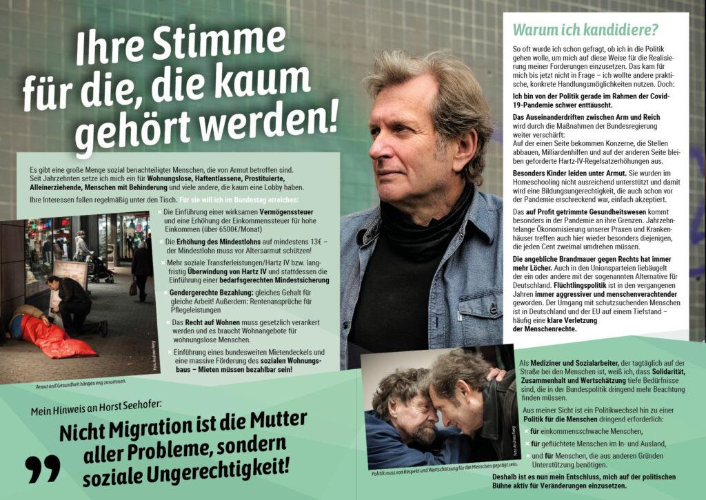 Flyer Prof. Dr. Trabert - Solidarität und soziale Gerechtigkeit